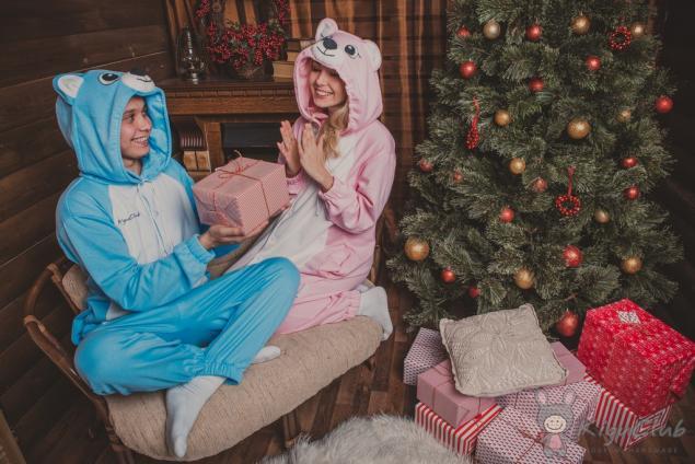 с новым годом, пижамы