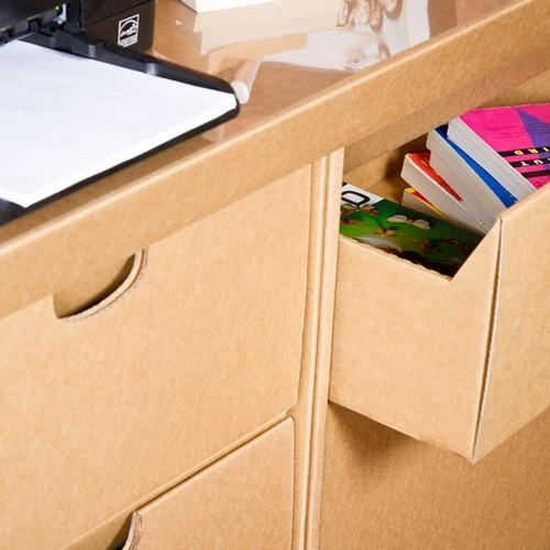 Дизайнерский стол с ящиками из картона от SmartDeco