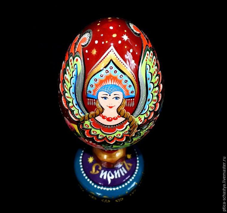 Делаем пасхальное яйцо «Сирин», фото № 21
