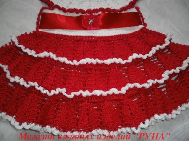 красное платье, детское платье, ажурное платье