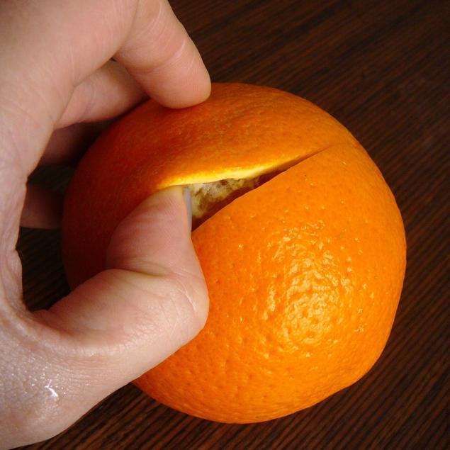 Свеча с апельсина своими руками