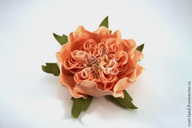 Пионовидная роза мастер класс из фома