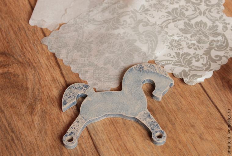 DIY Swan Horse in the Decoupage Technique, фото № 8