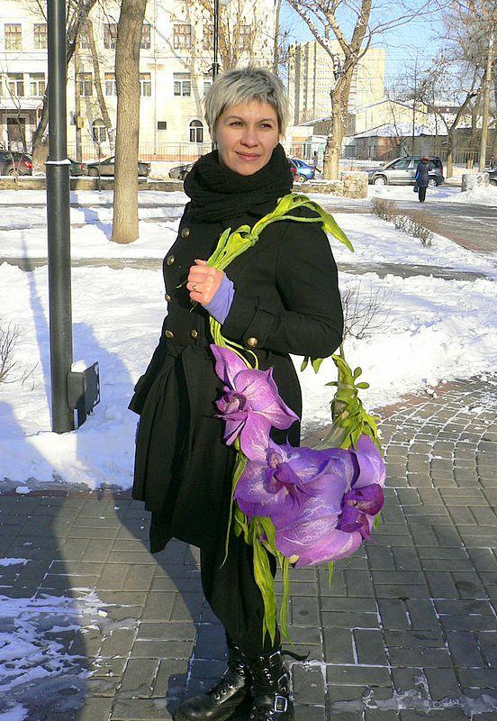 сумка цветок