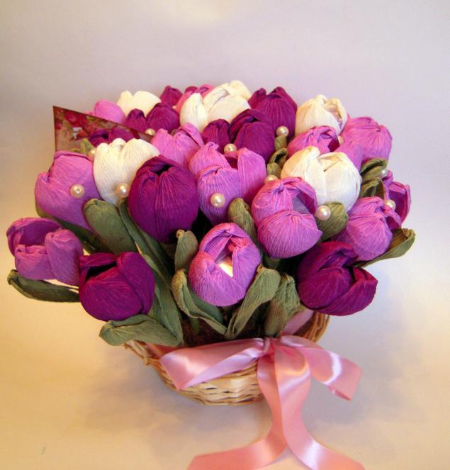 Тюльпаны букет из бумаги
