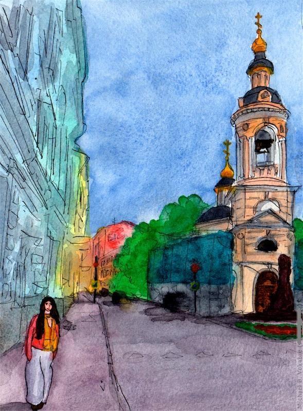 Путешествуем с Михаилом Щербаковым (Vokabre): быстрые зарисовки акварелью, фото № 18