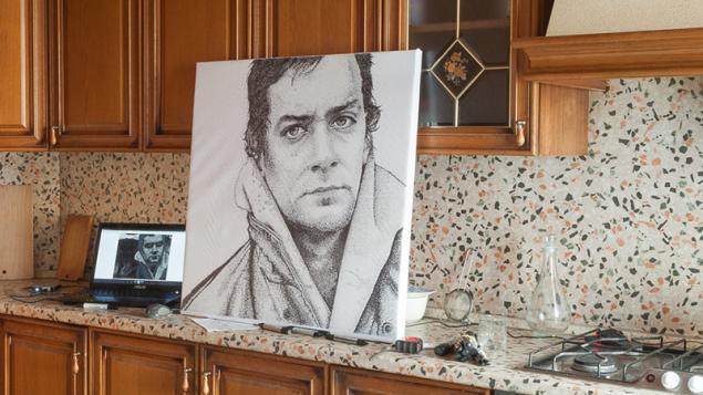портрет, точечная роспись, акриловые краски