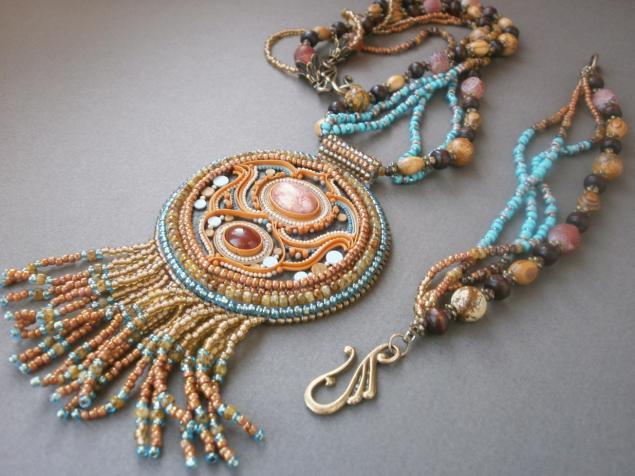 украшения, бижутерия, индия, этническое украшение, коричневый, оранжевый, анонс