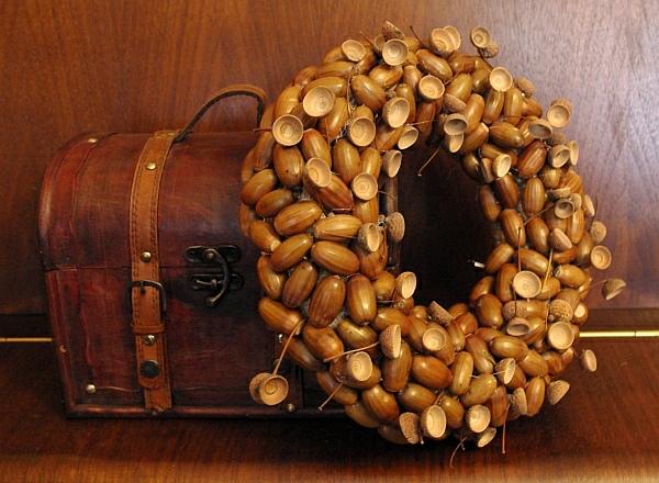 Поделки из тыквы и желудей