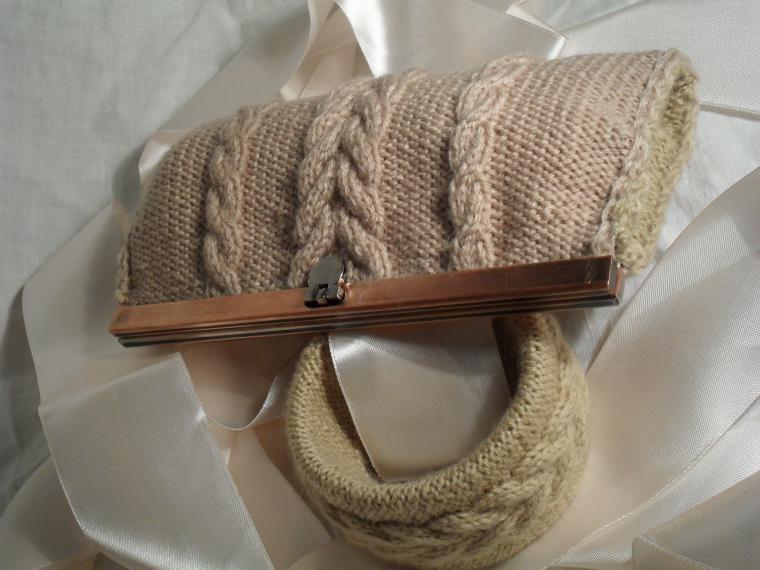 вязаное, косметичка, фермуар