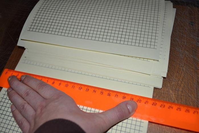Блокнот без сшивания с нуля