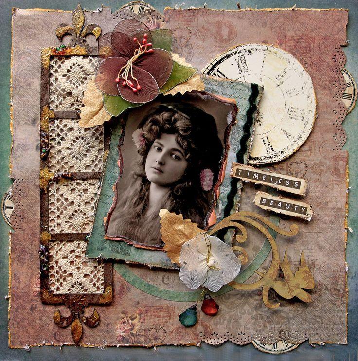 скрап набор старая открытка профессиональная фотостудия