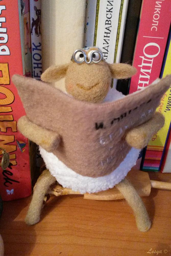 игрушка, заказ, сухое валяние, символ 2015 года