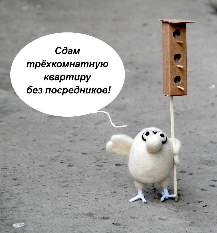 1 апреля, юмаринка, птички, скворечник, войлочная игрушка, николай воронцов