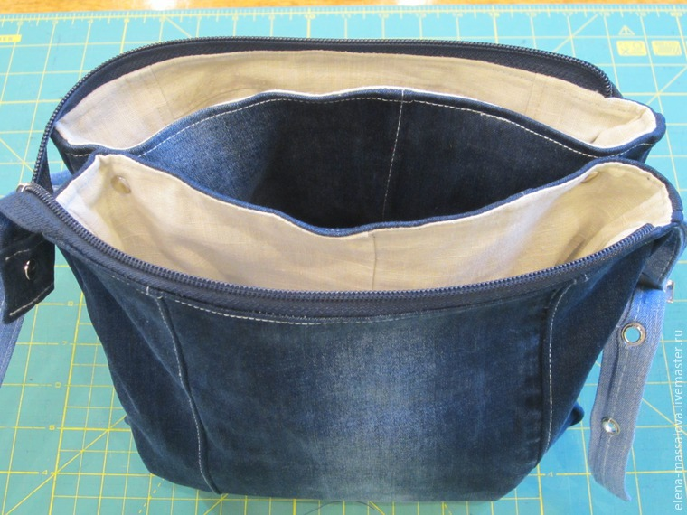 213c4371e969 Шьем джинсовую сумку с клапаном, декорированным лоскутным блоком ...