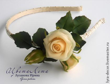 цветы ручной работы, цветы из полимерной глины, женственность, украшения ручной работы, украшения