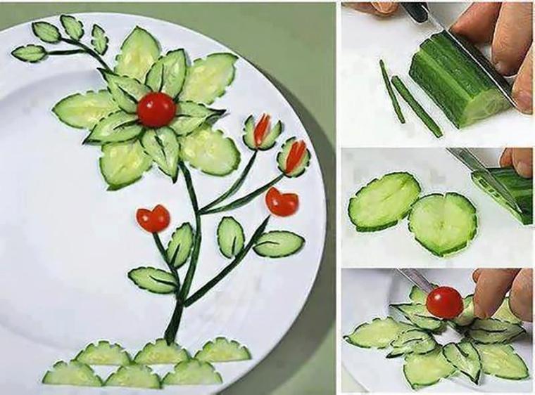 Украшения для салатов из овощей своими руками видео