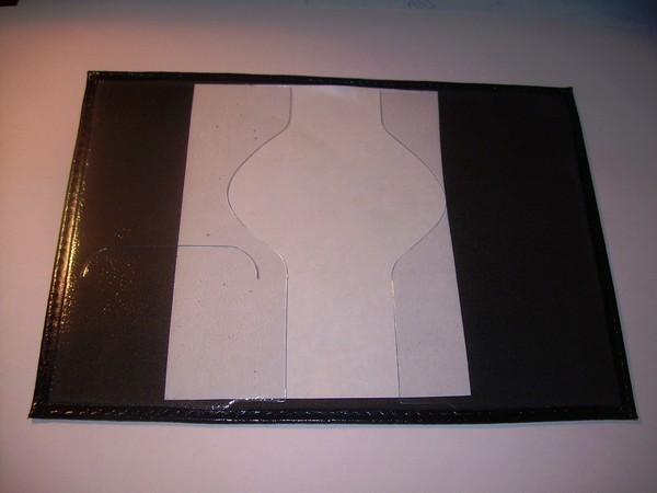 Внутренняя часть с листом бумаги