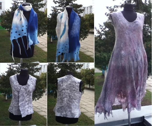 валентина костецкая, валяние киев, валяние платье, мастер-класс шарф, мастер-класс платье, базовый мк валяние