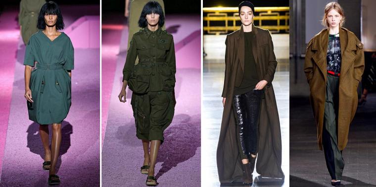 милитари, мода