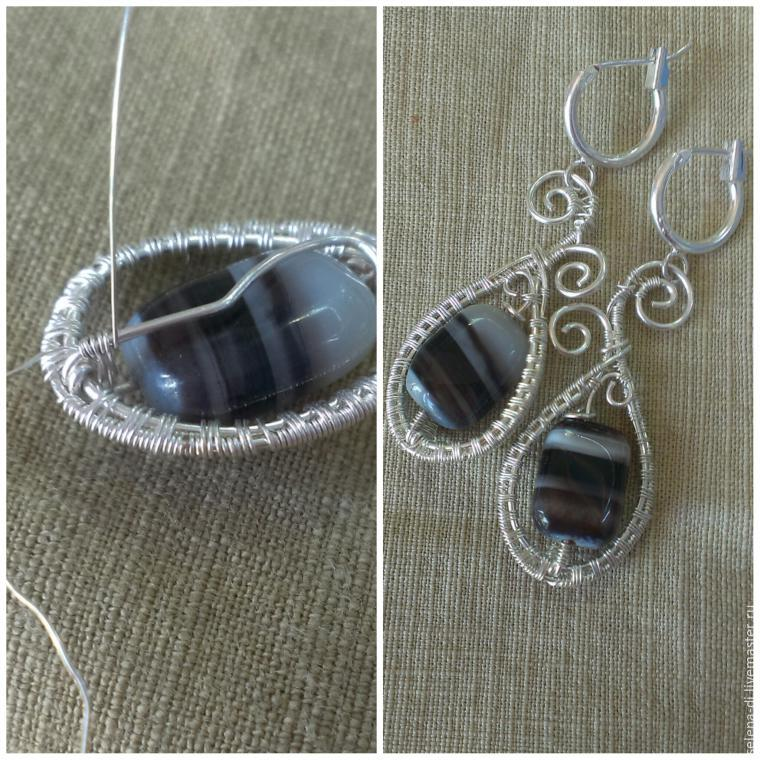 Tutorial on Making Earrings with Gem Beads, фото № 4