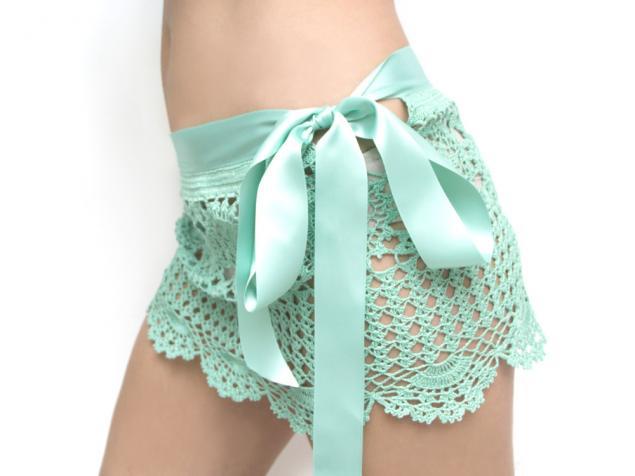 пляжная юбка, ментоловый цвет