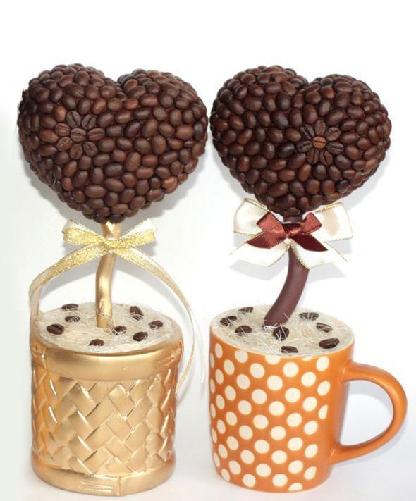 Кофейные деревья сердца своими руками