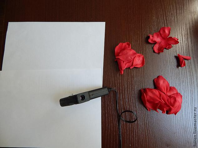 Реалистичная роза из фоамирана своими руками, фото № 13