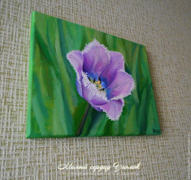 аукцион картина, картина с цветами