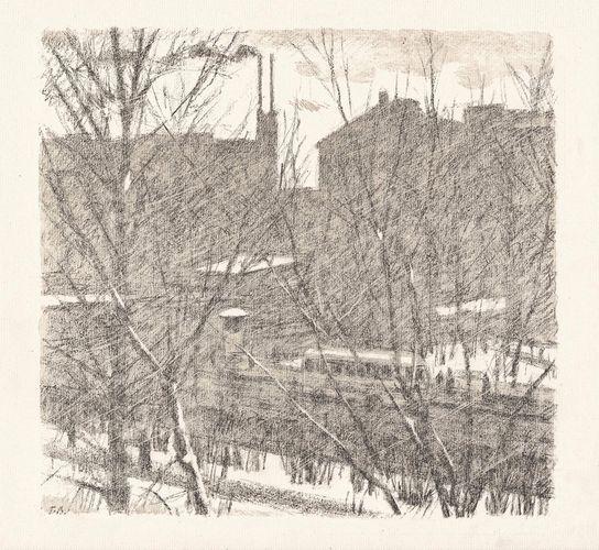 Черно-белая графика знаменитых художников, фото № 52