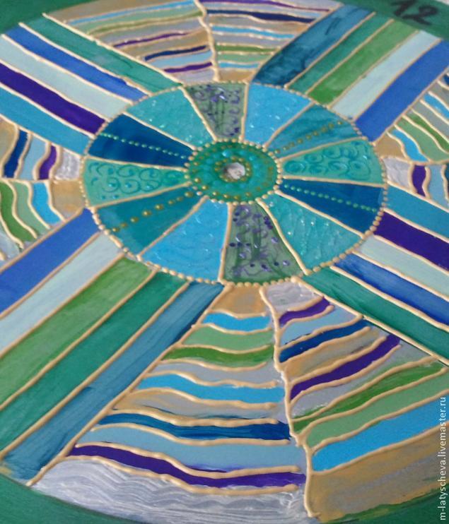Яркие настенные часы (роспись), фото № 16