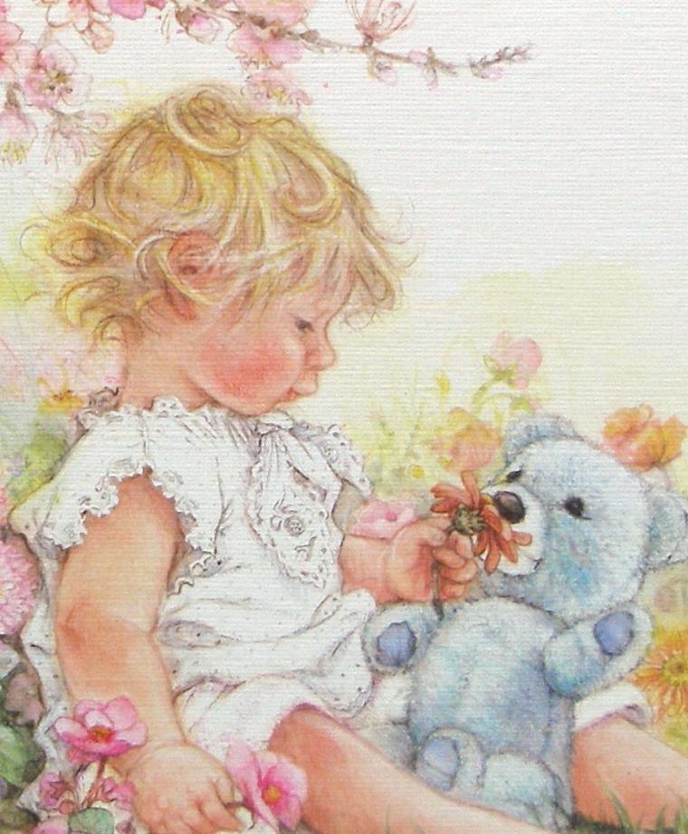 Дети открытки рисованные