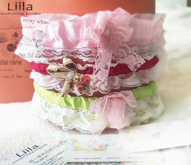 подвязка, подвязка невесты, подвязка на ногу, кружево, оборки, невеста, белье ручной работы, liila мастерская, подарок, подарок девушке, прелесть, прелестный подарок, нежность