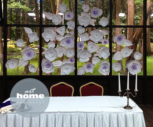 декор свадьбы, бумажные бабочки