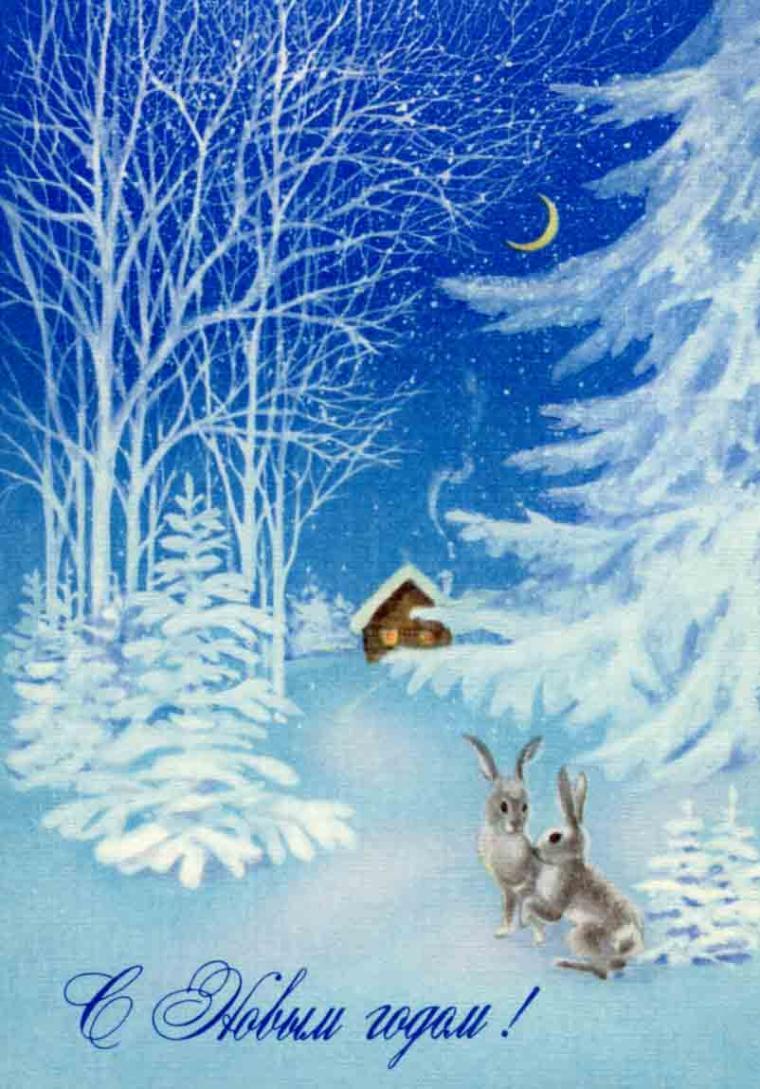 Советские открытки природа,