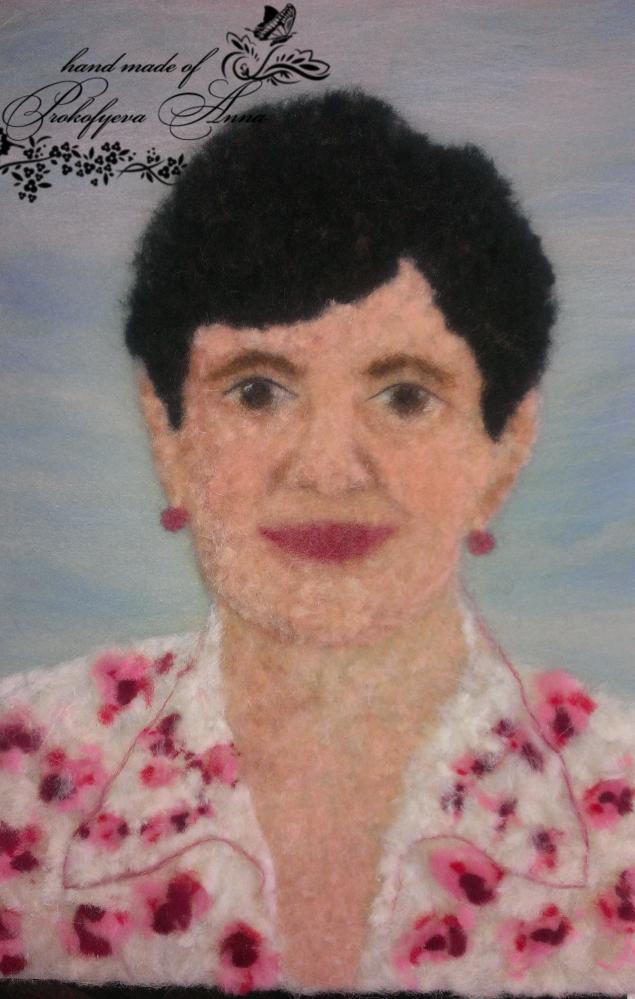 картина, портрет, шерстяная акварель, подарок, картины из шерсти