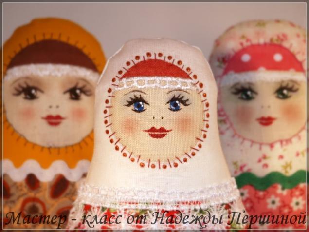 Кукла матрешка своими руками из ткани