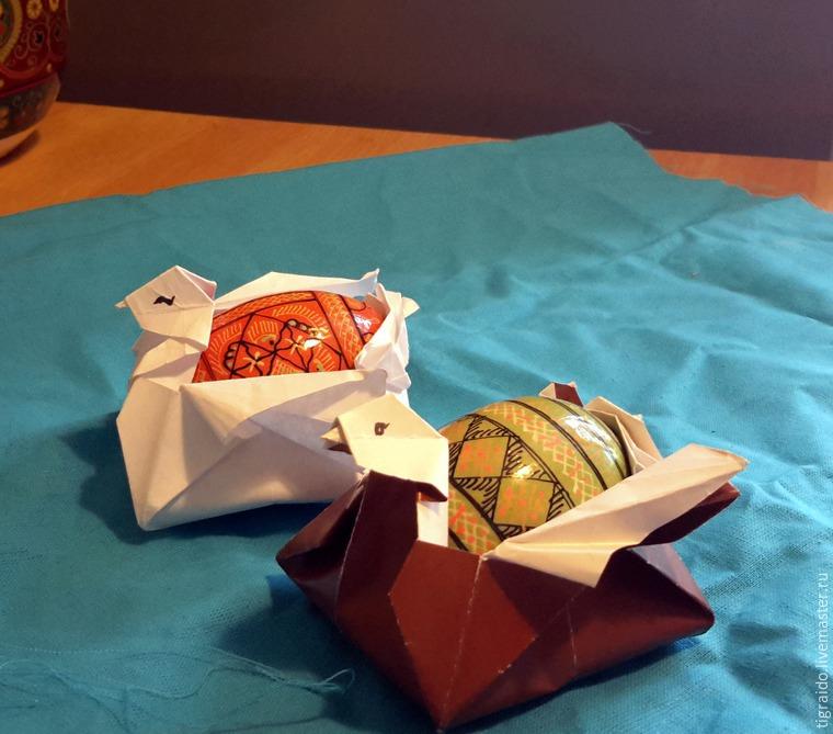 Оригами: пасхальная курочка, фото № 30