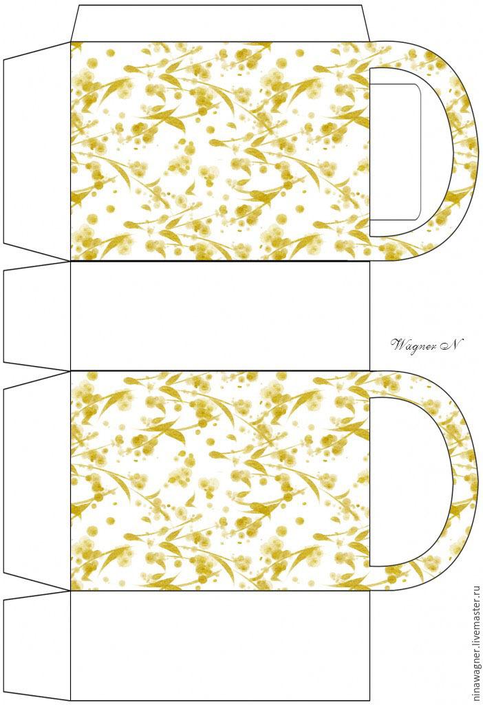 51fd96db11f9 Распечатываем на листе бумаги развертку-шаблон сумочки. подарок женщине