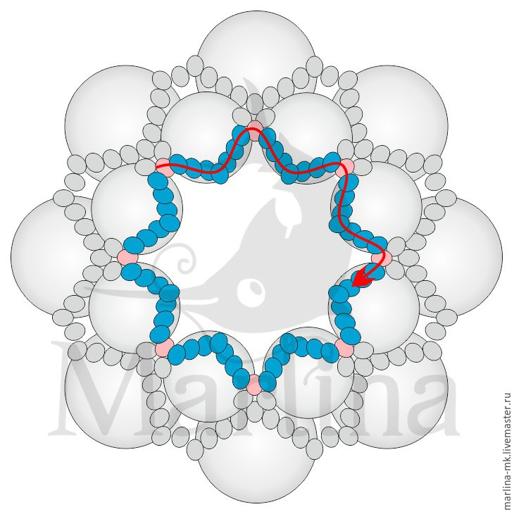 Jellyfish Pendant DIY with Pearls and Swarovski Crystals, фото № 10