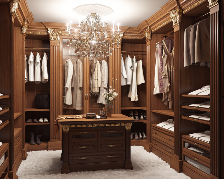 Красивые гардеробные комнаты фото
