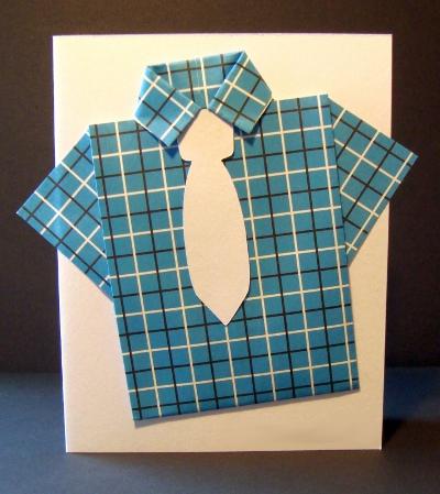 Открытка в форме рубашки