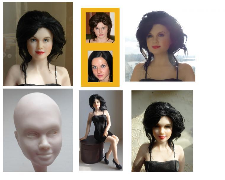 портретное сходство, кукла на заказ