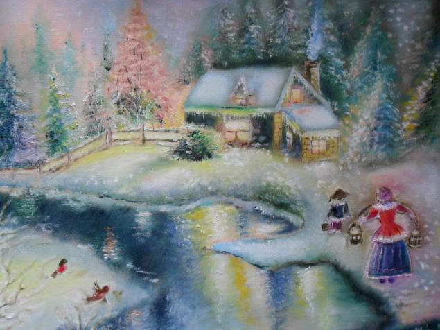 картина, картина маслом, живопись, картинасчастье, картина радость, счастье, картина в детскую, картина для интерьера, картина в подарок