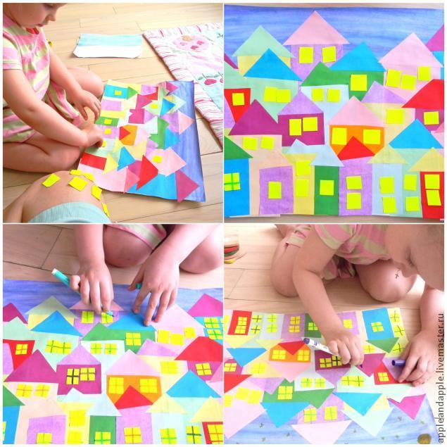 Night City Paper Craft with Children, фото № 2