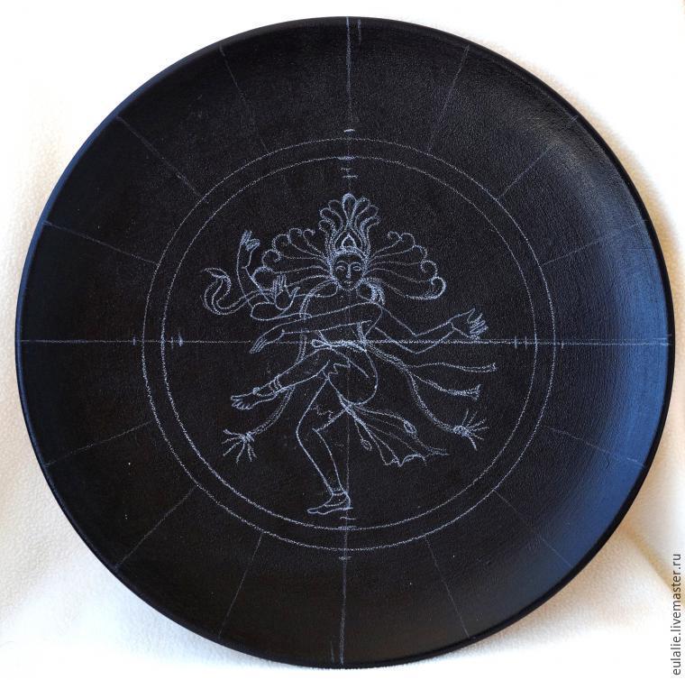 Мастер-класс по точечной росписи: тарелка-панно «танцующий Шива», фото № 4