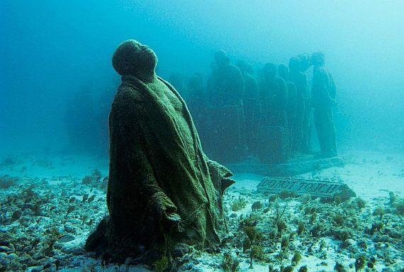 подводный музей скульптур канкун мексика