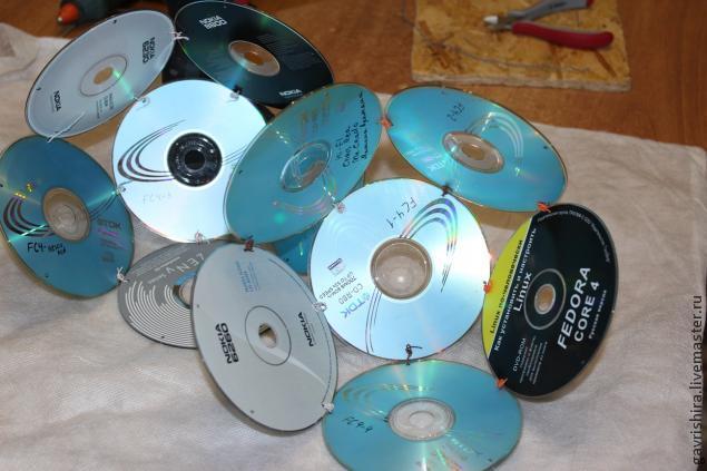 Шар из дисков своими руками фото