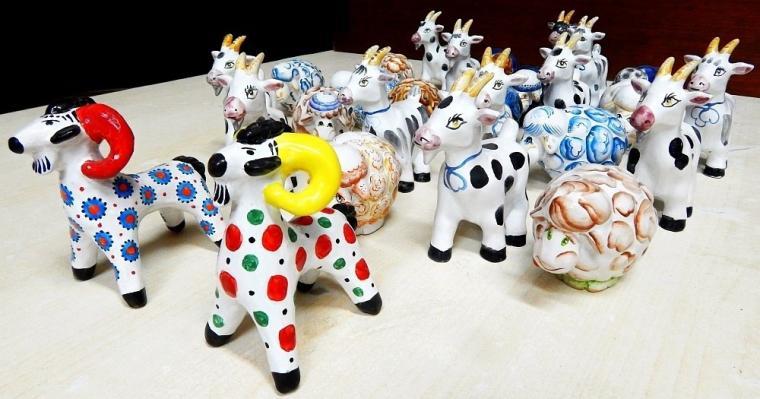 керамика, коза