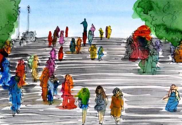 Путешествуем с Михаилом Щербаковым (Vokabre): быстрые зарисовки акварелью, фото № 40